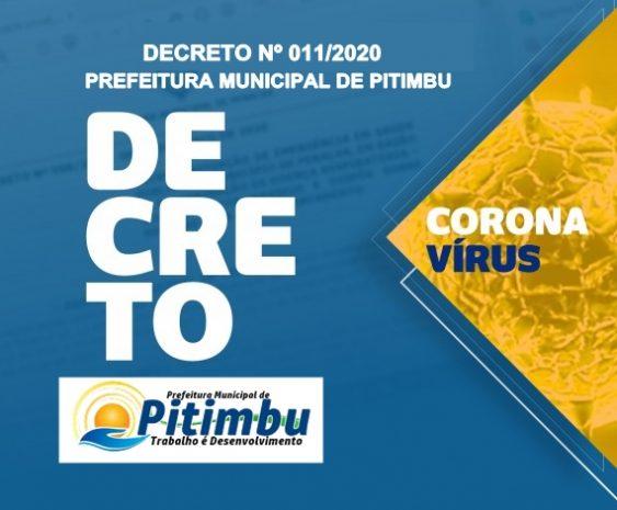 Novo decreto da Prefeitura de Pitimbu determina fechamento de estabelecimentos, templos, igrejas, etc.