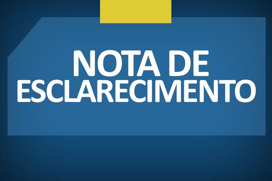 Gestão Municipal lança Nota de Esclarecimento à população.